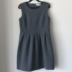 Loft Gray Dress with quilted pattern.